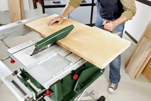 Bosch DIY Tischkreissäge PTS 10, Spaltkeil, Tischverlängerung, Winkelanschlag, Absaugschlauch, Karton (1400 W, Kreissägeblatt Nenn-Ø  254 mm, Schnitttiefe bei 90° 75 mm) -